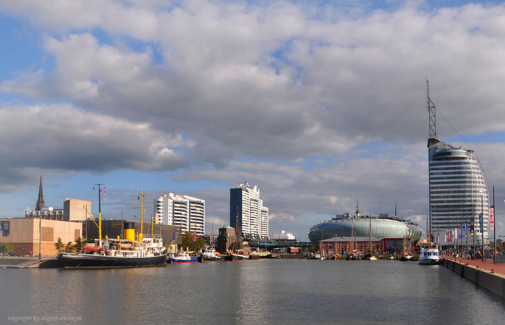Blick über Bremerhavens neue Skyline