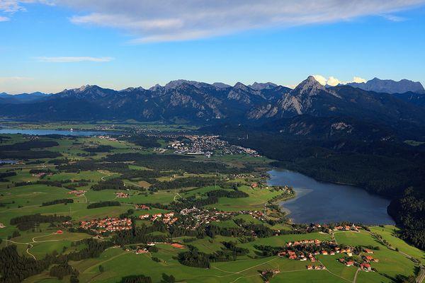 Blick über das Füssener Land