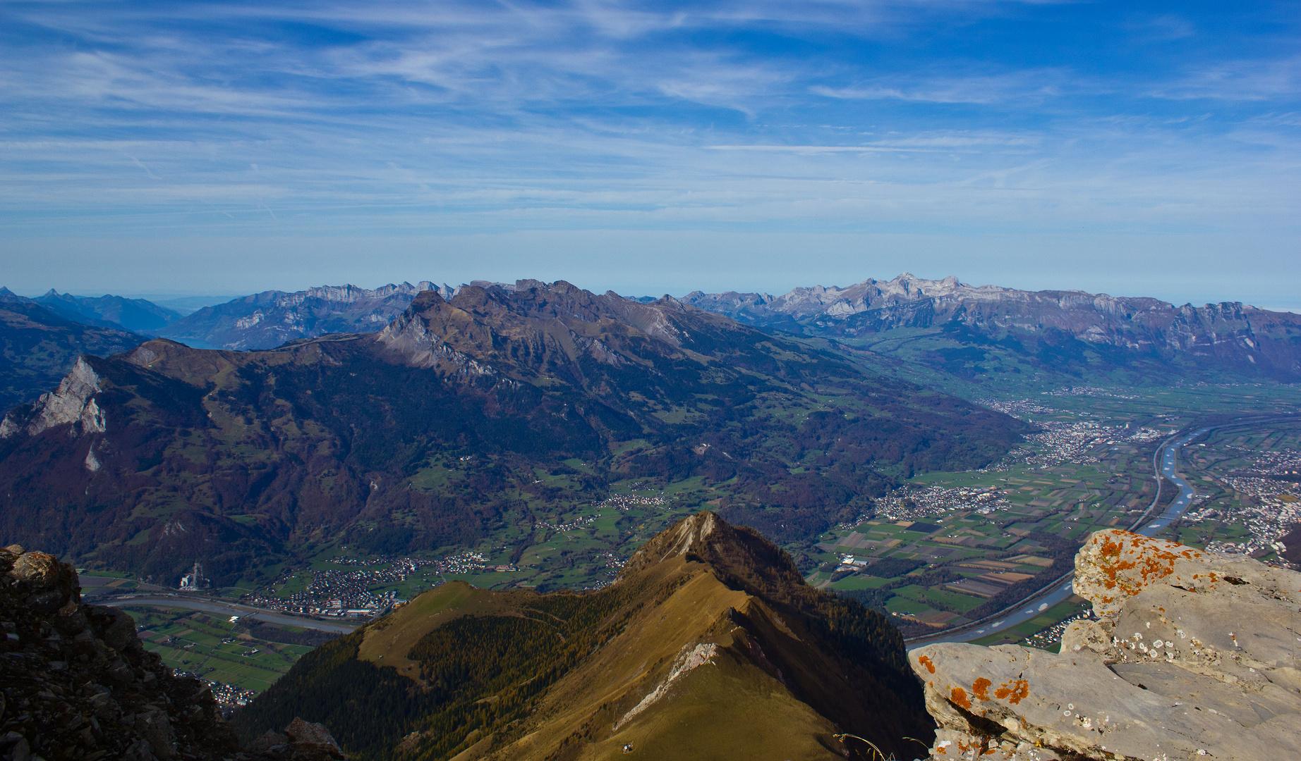 Blick über das Schweizer Rheintal