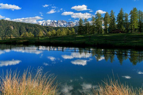 Blick über den kleinen Wuhnleger See