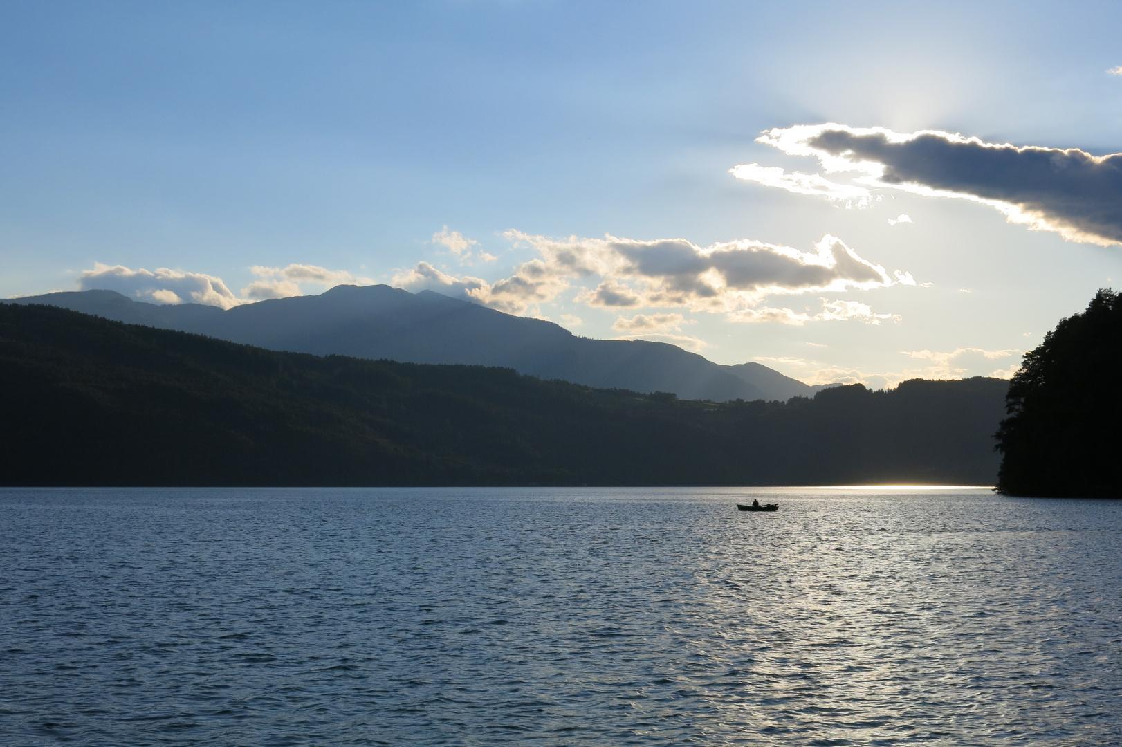 Blick über den Millstätter See zum Goldeck