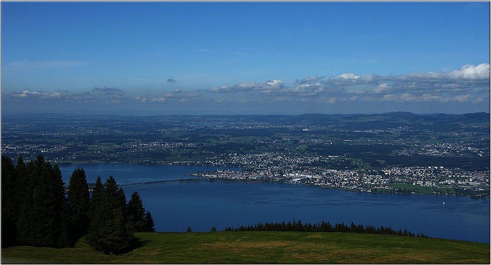 Blick über den oberen Zürichsee