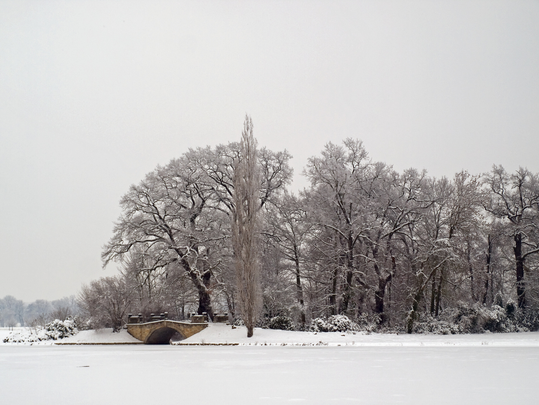 Blick über den (zugefrorenen) See