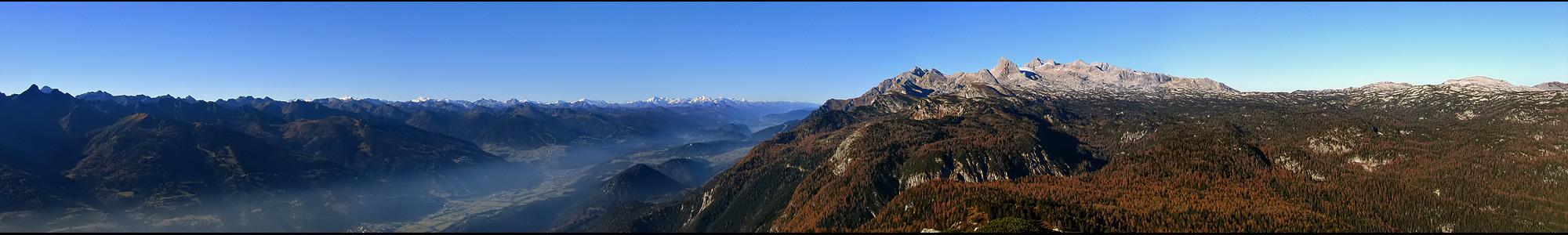 Blick über die Alpen