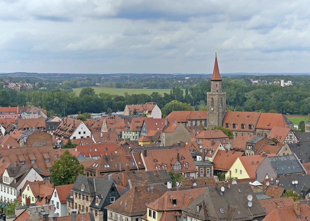 Blick über die Altstadt von Fürth