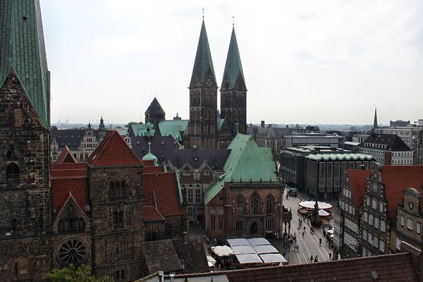 Blick über die Bremer Innenstadt