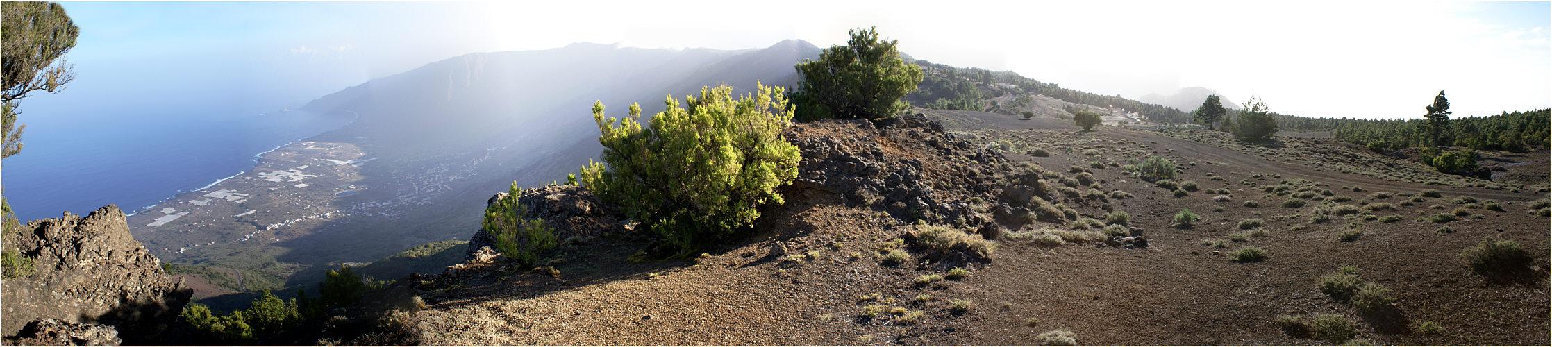 Blick über die Cumbre auf El Golfo - El Hierro