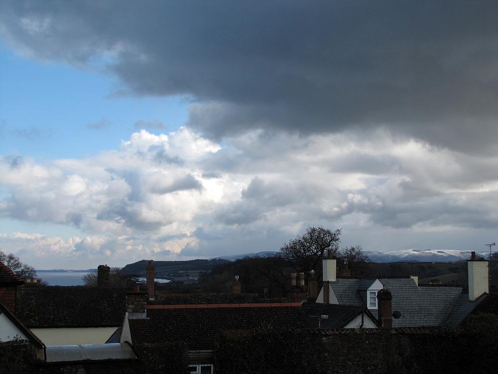 Blick über die Dächer von Dunster