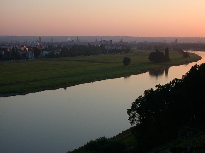 Blick über die Elbwiesen, Dresden