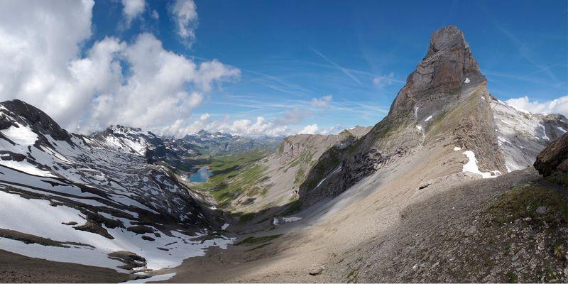 Blick über die Glattalp, Muotatal Kt. Schwyz