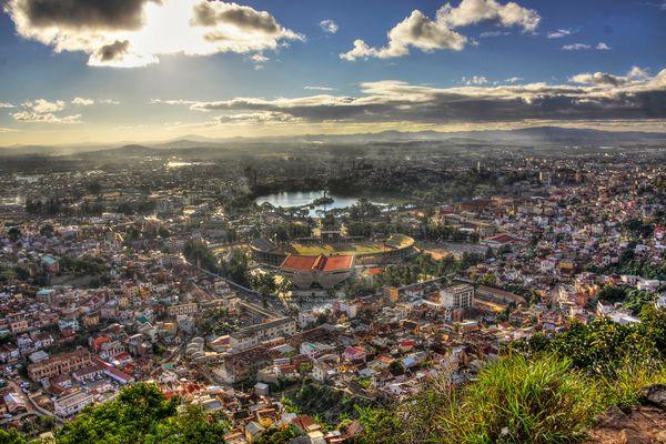 Blick über die Hauptstadt Antananarivo