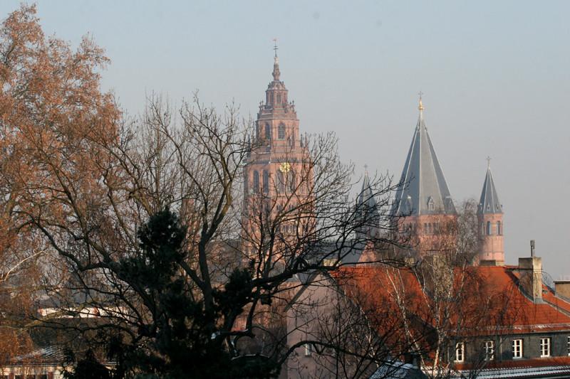 Blick über die Mainzer Dächer zum Dom