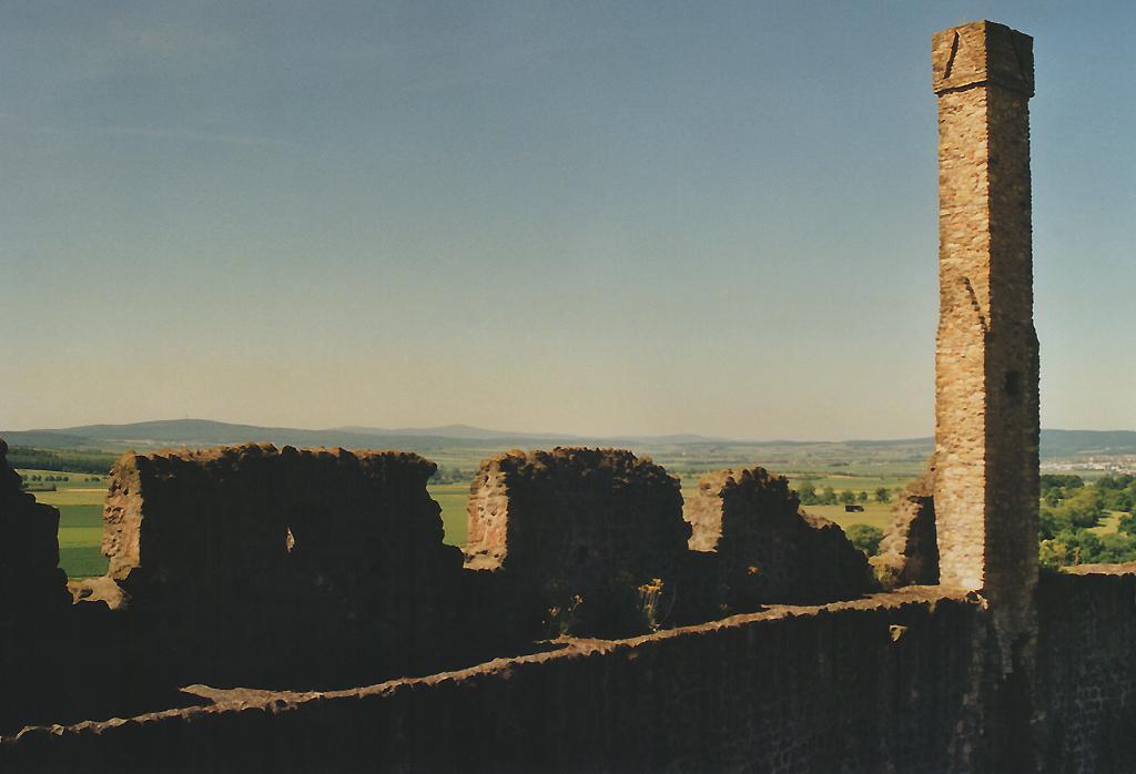 Blick über die Wetterau von der Burg Münzenberg aus.