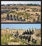 Blick über einen Teil des Geländes vom Mut-Tempel südlich von Karnak-Tempel
