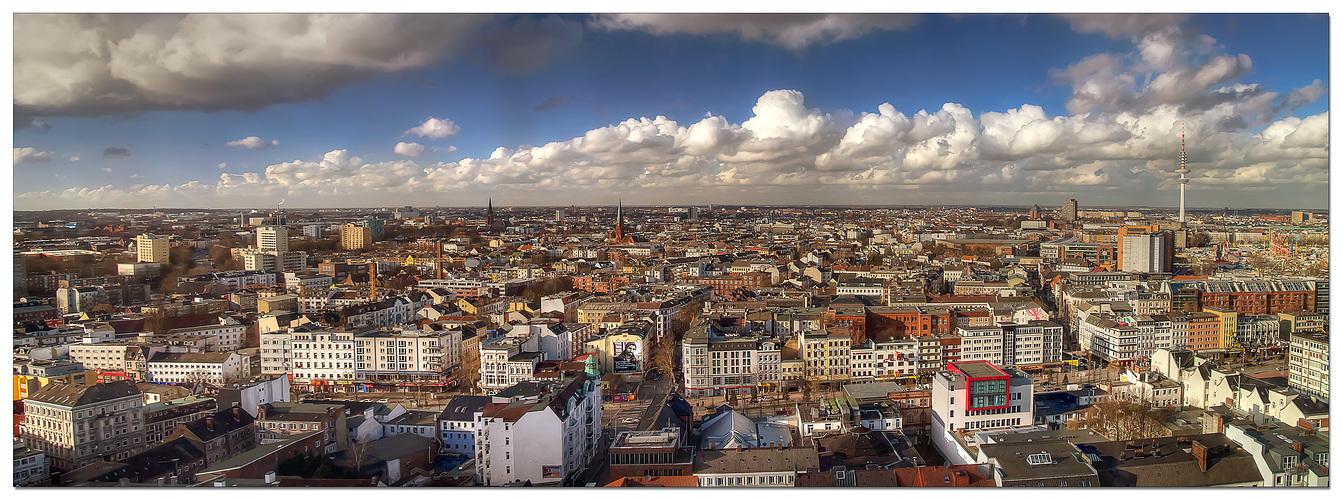 blick ber hamburg panorama foto bild deutschland europe hamburg bilder auf fotocommunity. Black Bedroom Furniture Sets. Home Design Ideas