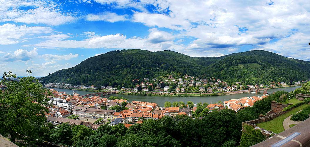 Blick über Heidelberg
