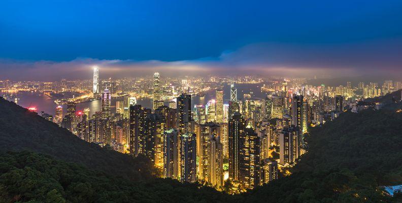 Blick über Hongkong@Night