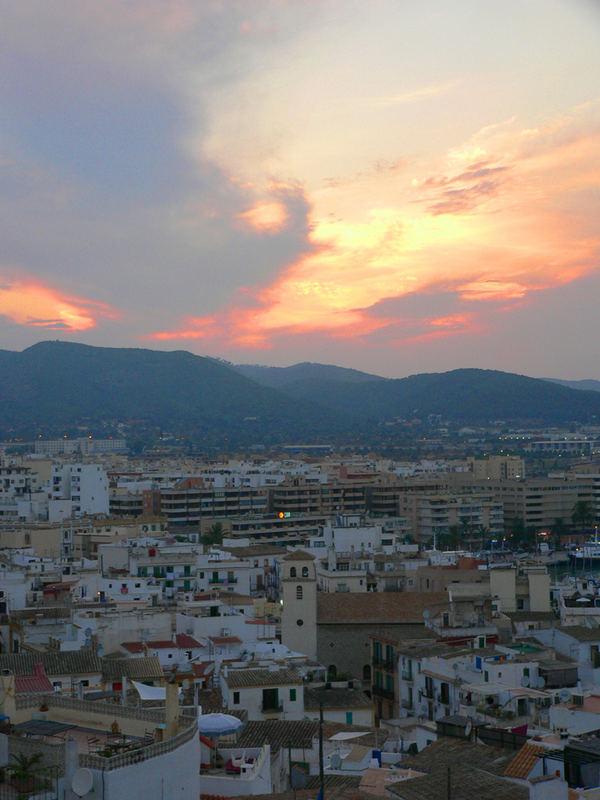 Blick über Ibiza Stadt