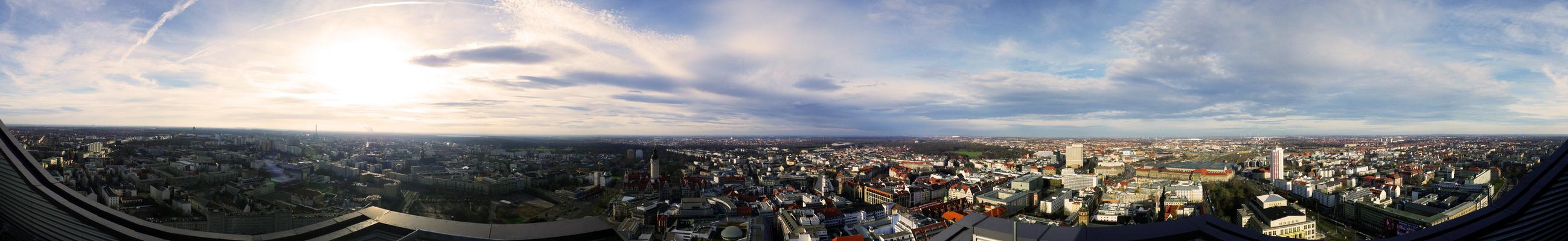 Blick über Leipzig in 270°