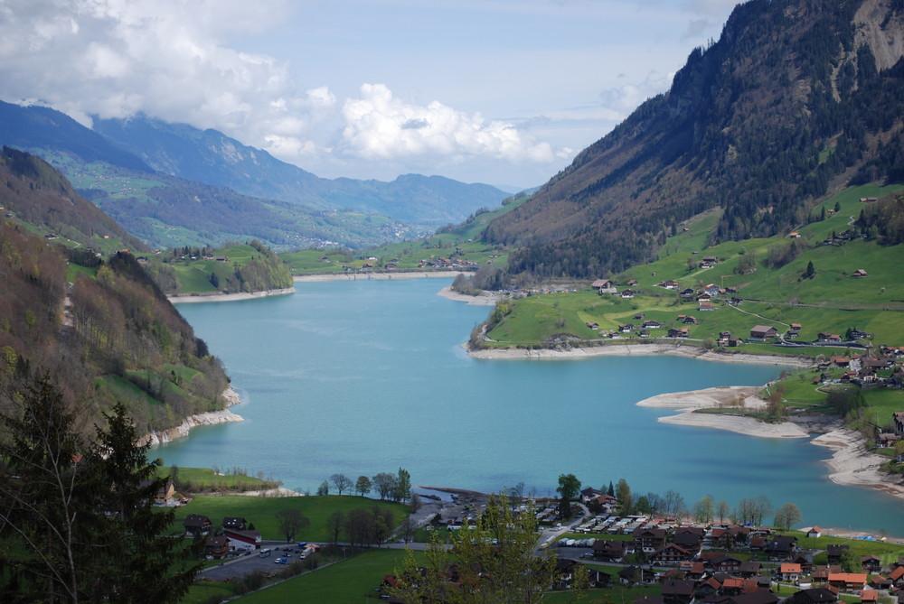 Blick über Lungern (Schweiz)