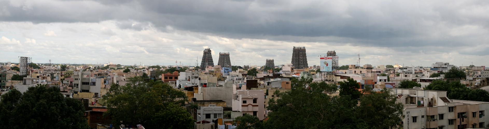 Blick über Madurai