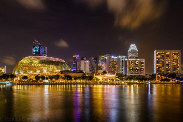 Blick über Marina Bay