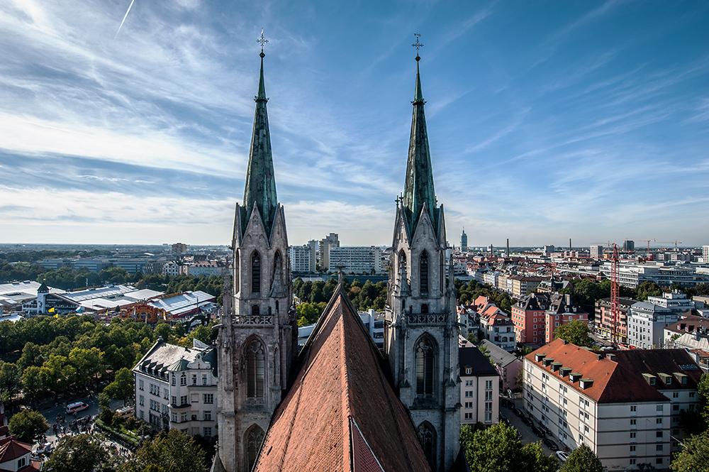 Blick über München...