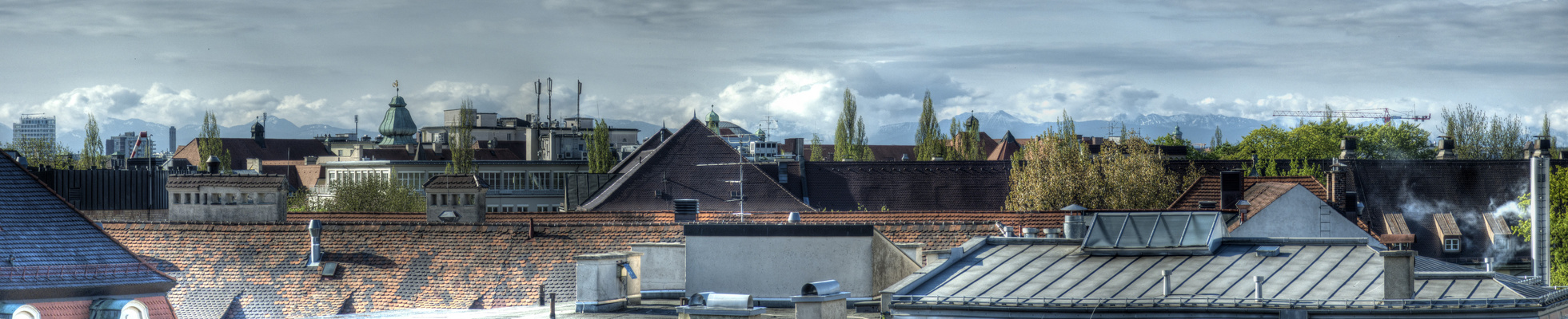 Blick über München HDR Panorama