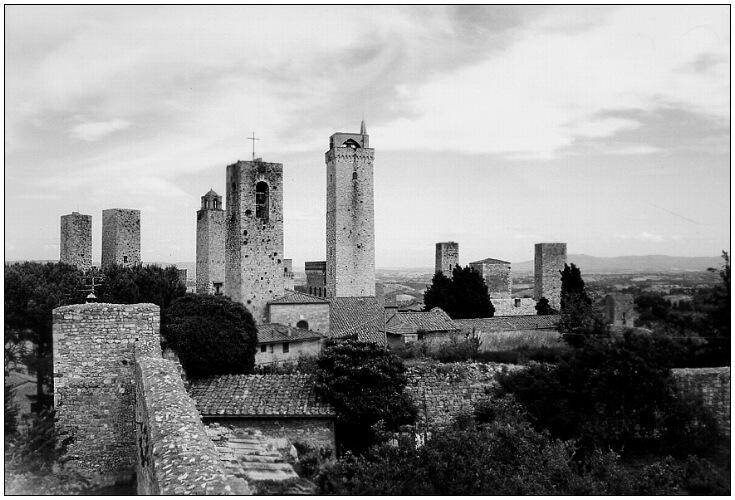 Blick über San Gimignano