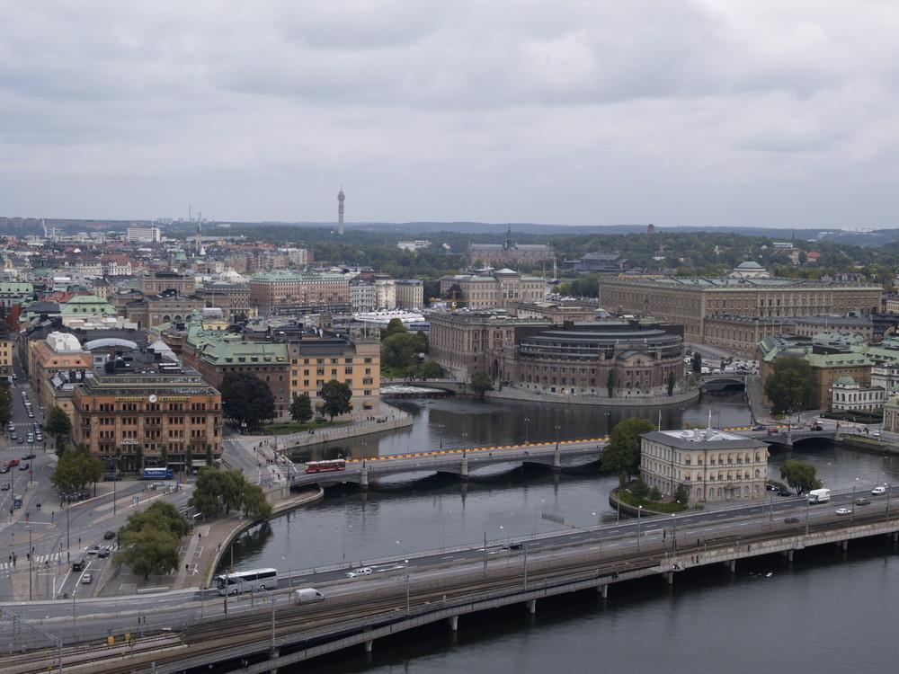 Blick über Stockholm vom Rathausturm