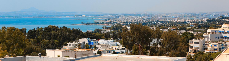 Blick über Tunis und La Goulette