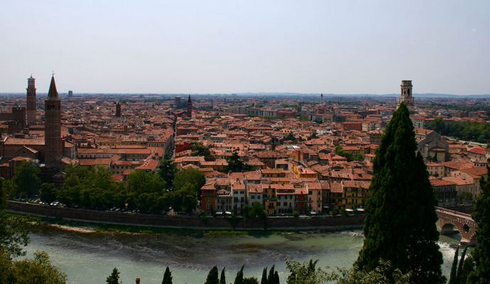 Blick über Verona - Das Tor Italiens.