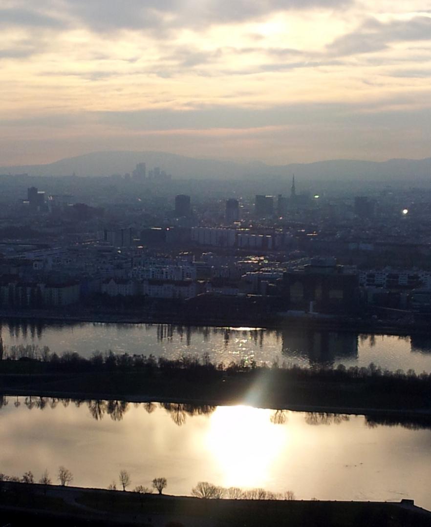 Blick über Wien am späten Nachmittag