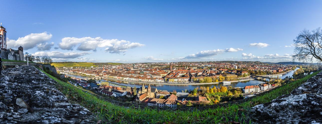 Blick über Würzburg (30.10.13)