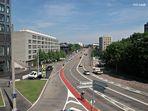 """Blick übers """"Heuwaagen Viadukt"""" in Basel"""