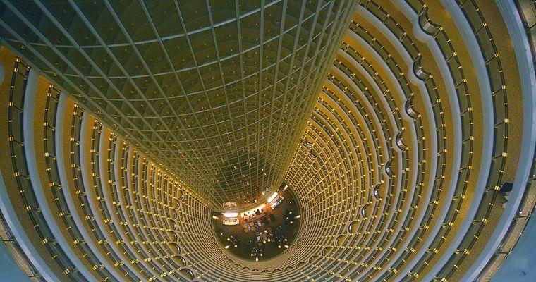 Blick vom 88. Stockwerk...