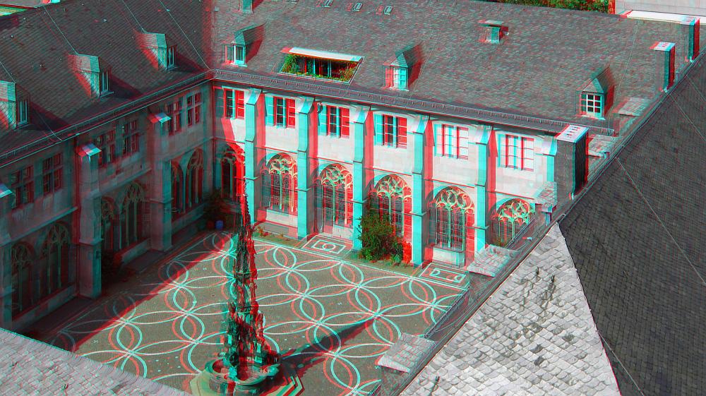 Blick vom Aachener Dom ... (3D-Bild)