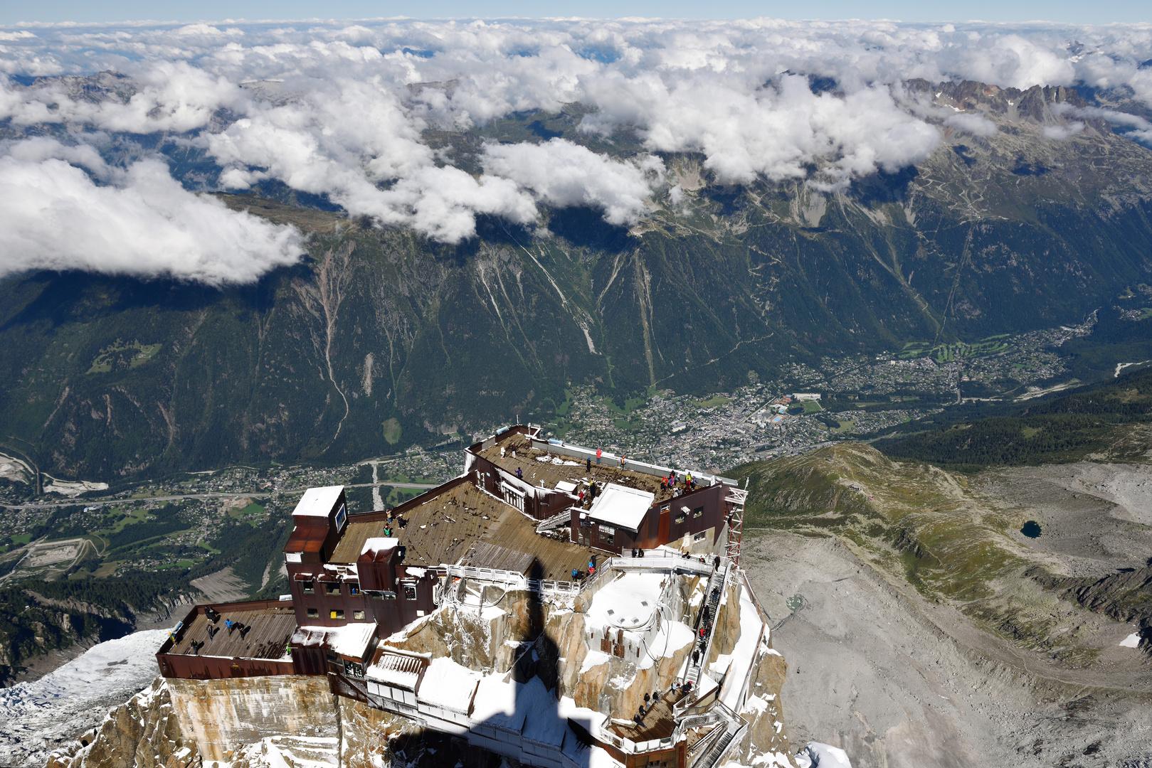 Blick vom Aiguille du Midi (3842 m)