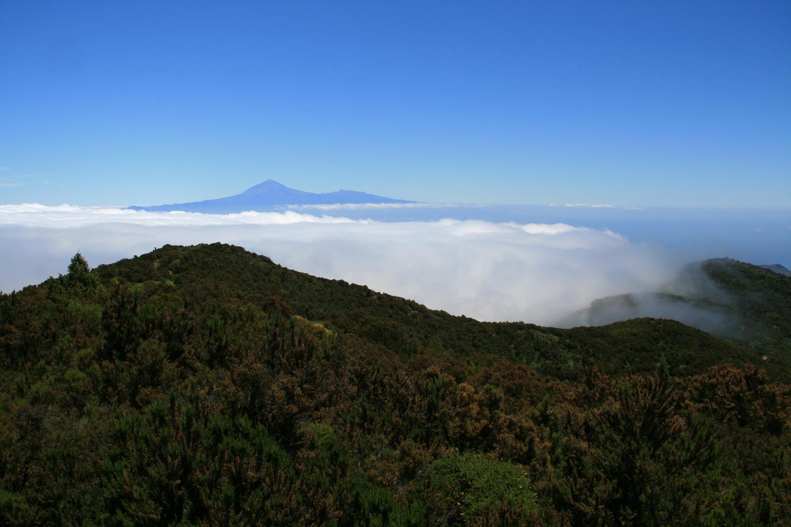 Blick vom Alto de Garajonay auf Teneriffa