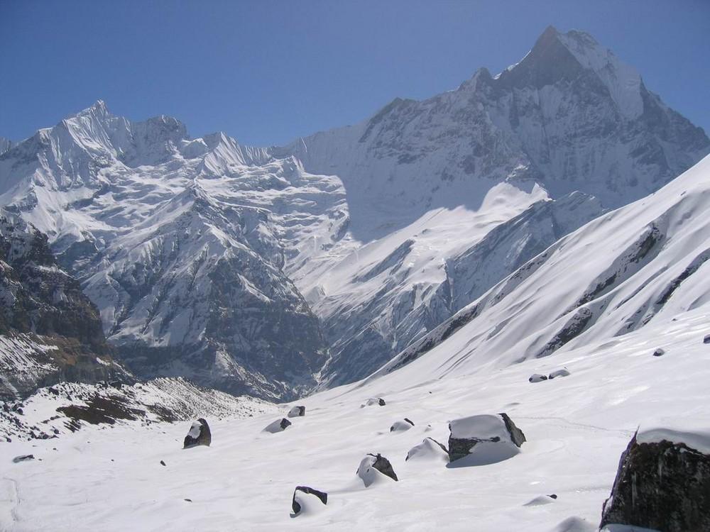 Blick vom Annapurna Base Camp Nepal