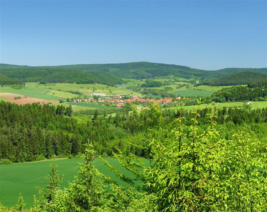 Blick vom Apfelsberg aus auf Lengfeld