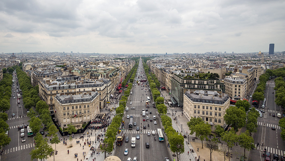 .: Blick vom Arc de Triomphe | Paris :.