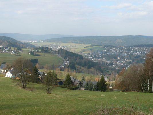 Blick vom Aschberg nach Klingenthal (Vogtland)