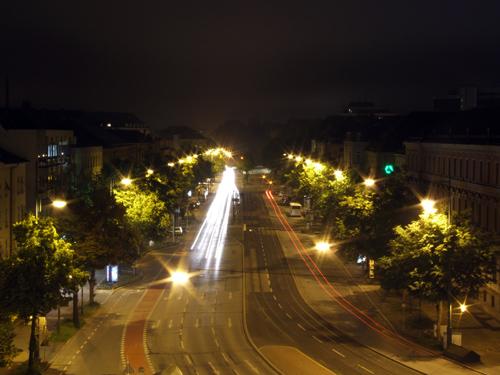 Blick vom Augsburger Stadttheater in Richtung Königsplatz 3.6.07