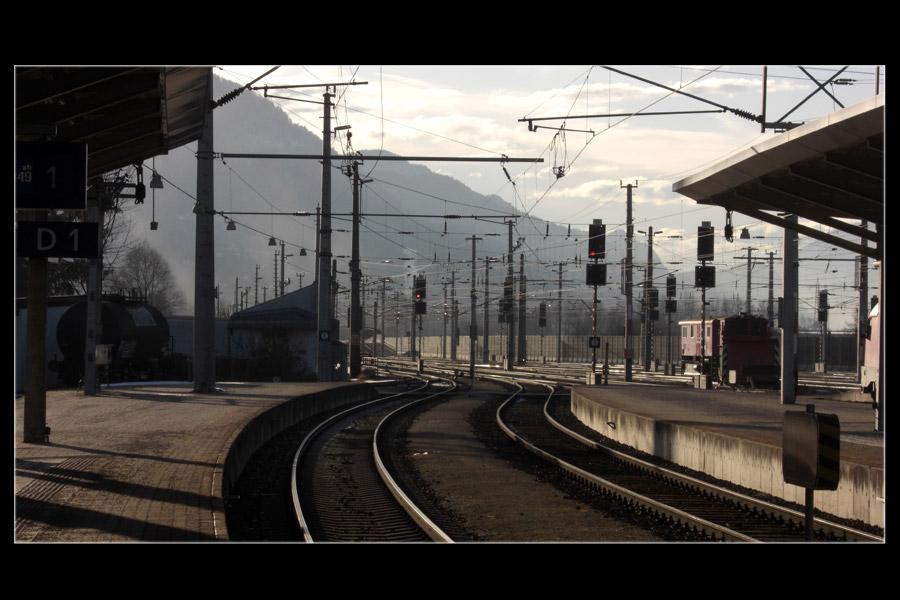 Blick vom Bahnhof Wörgl
