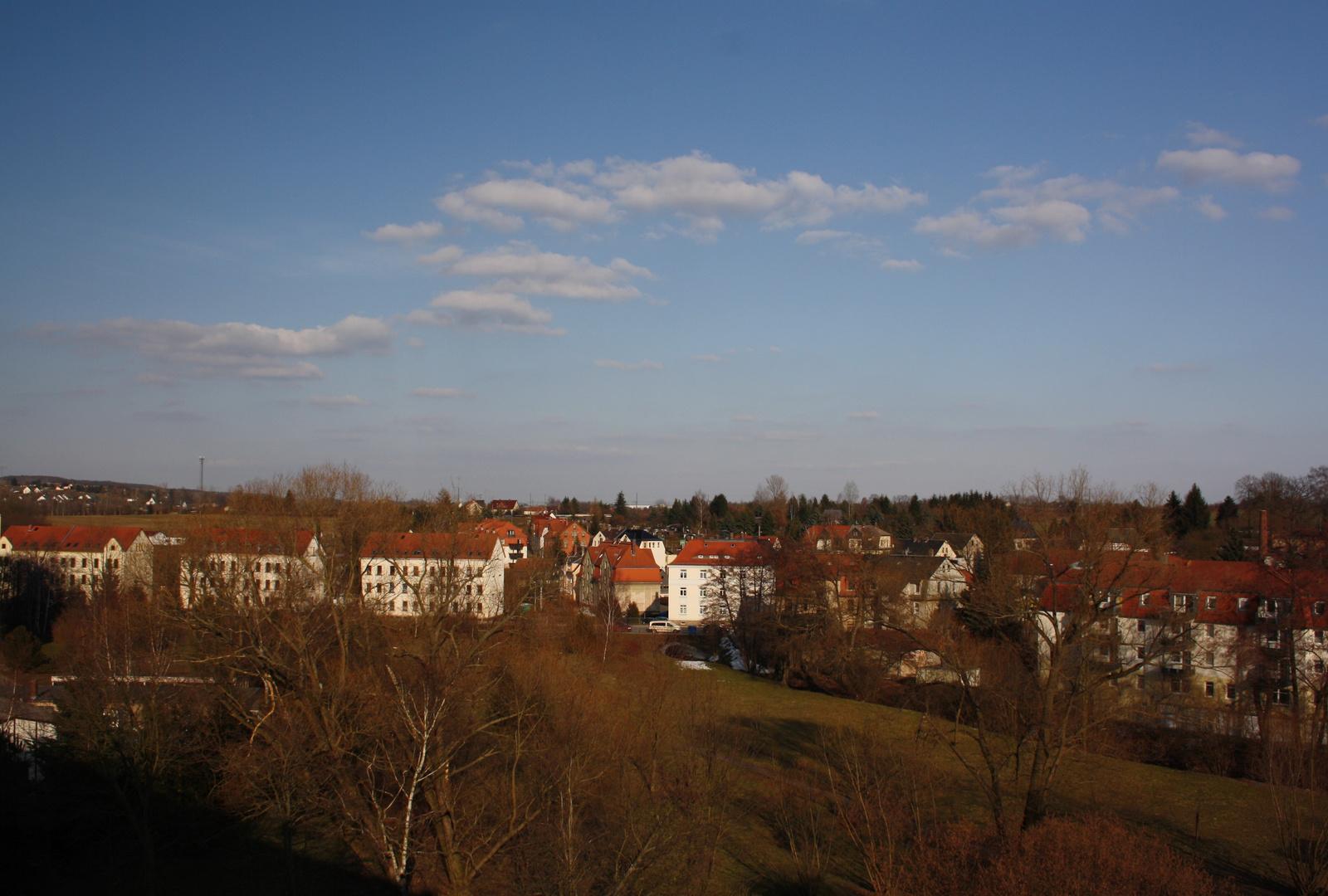 Blick vom Balkon aus