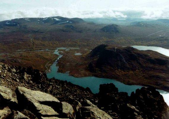 Blick vom Beseggen Pass Norwegen