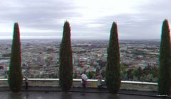 Blick vom Colle di San Leonardo auf Verona