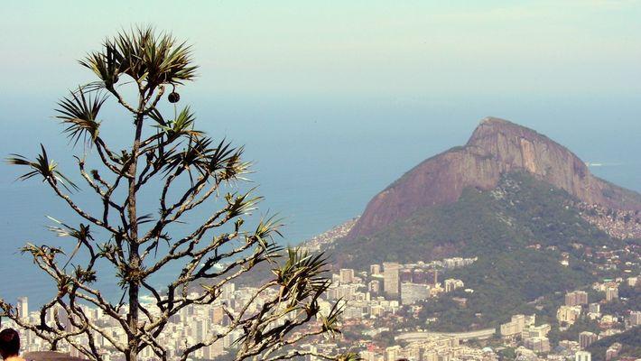 Blick vom Corcovado auf die Stadt