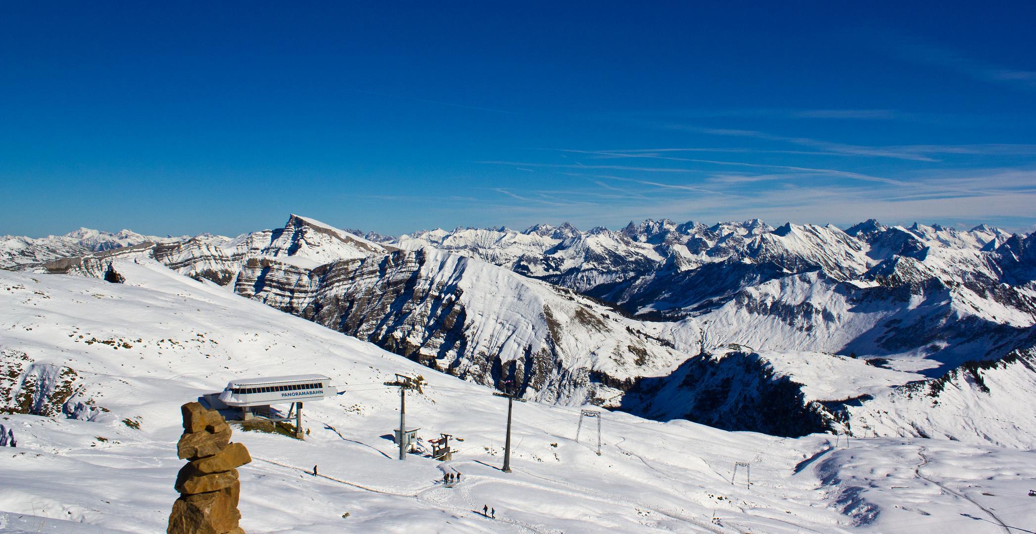 Blick vom Diedamskopf 2090m